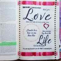 Bible Journaling - Love one Another (002)